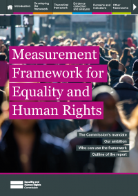 Publication cover: Measurement framework for equality and human rights