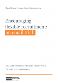 Publication cover: Encouraging flexible recruitment email trial