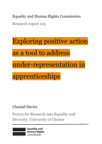Publication cover: positive action on apprenticeships