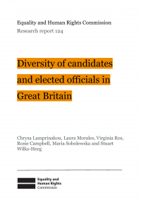 Publication cover: diversity of candidates and elected officials in Great Britain