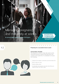 Publication cover: Managing pregnancy and maternity at work
