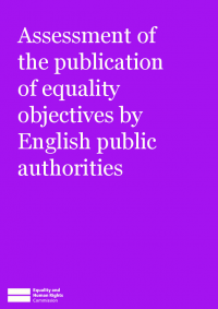 assessment of the publication of equality objectives