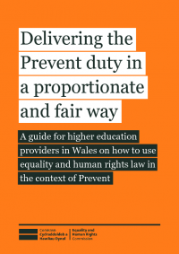 Publication cover: Delivering the Prevent duty in a proportionate and fair way