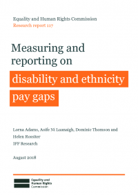 measuring and reporting on ethnicity and disability pay gaps