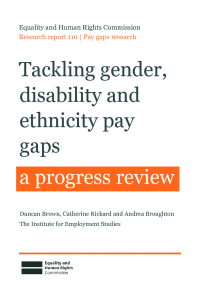 tackling gender disability and ethnicity pay gaps   a progress review