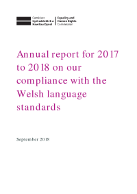 welsh language standards annual report 2017 2018