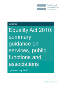 Summary guidance on services, public functions and associations