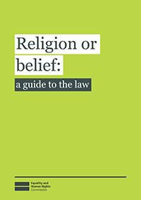 Religion or belief: a guide to the law publication cover