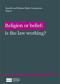 Religion or belief report publication cover