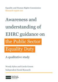 Research Report 100 Awareness and understanding of EHRC guidance on the PSED
