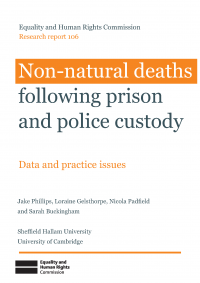 Non-natural deaths following prison and police custody publication cover