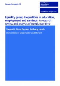 This is the cover of Research report 10: Eqaulity group inequalities in education, employment and earnings - review and analysis