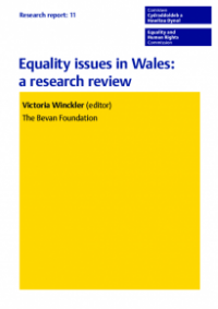 This is the cover of Research report 11: Equality issues in Wales - research review