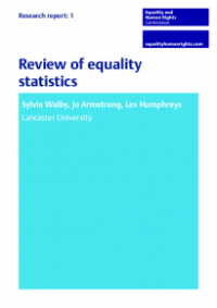 This is the cover of Research review 1: Review of equality statistics