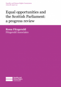 This is the cover for Research report 32: Equal opporunities and the Scottish Parliament - a progress review