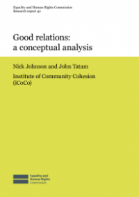 This is the cover for Research report 42: Good relations - a conceptual analysis