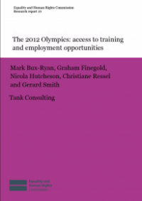 This is cover for Research report 49: The 2012 Olympics access to training and employment opportunities publication