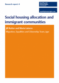 This is the cover for Research report 4: social housing allocation on immigrant communities