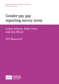 This is the cover for Research report 55: Gender pay gap reporting survey 2009