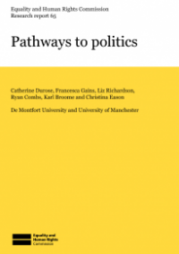 This is the cover of Research report 65: Pathways to politics