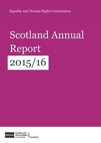 Cover of Scotland Annual Report 2015-16