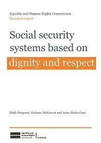 "Cover of research report ""Social Security systems based on dignity and respect"""