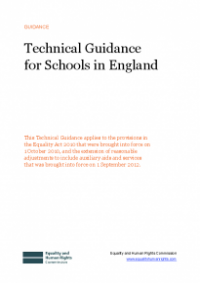 This is the cover for Technical guidance for schools in England