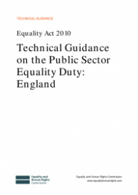 This is the cover of Technical guidance on the public sector equality duty: England