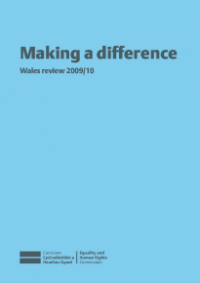 This is the cover for Making a difference - Wales review 2009/10
