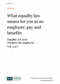 This is the cover of What equality law means for you as an employer: pay and benefits