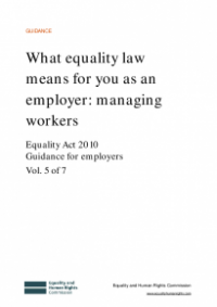 This is the cover of What equality law means for you as an employer: managing workers