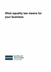 This is the cover of What equality law means for your business