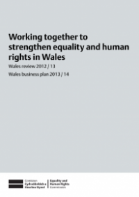 This is the cover for Working together to strengthen equality and human rights in Wales