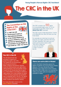 This is the Young people's rights and the CRC in the UK factsheet