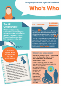 This is the Young people's rights and the CRC who's who factsheet