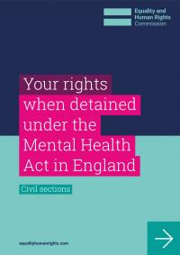 Front cover of your rights when detained under the Mental Health Act in England guidance