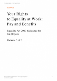 This is the cover of Your rights to equality at work: pay and benefits