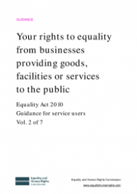 This is the cover of Your rights to equality from businesses providing goods, facilities or services to the public