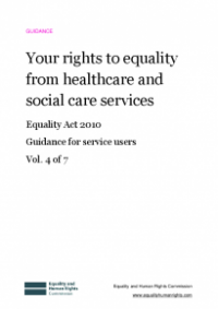 This is the cover of Your rights to equality from healthcare and social care services