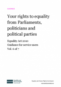This is the cover of Your rights to equality from Parliaments, politicians and political parties